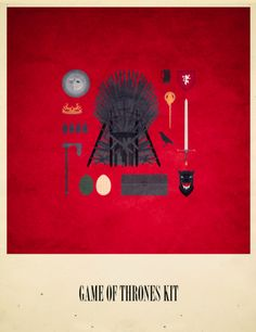 Game Of Thrones Kit - Movies Hipster Kit, Alizée Lafon  / Minimal Movies and series TV Poster