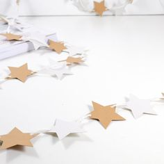 Brown light grey Stars Bunting Brown Stars Bunting Garland Banner for home, room, office, party, circus, birthday, christmas, wedding, photography backdrop, light grey, holidays.. by 21january on Etsy