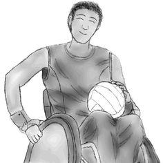 Estudo de desenho #028 #studying #drawing #sport #wheelchair