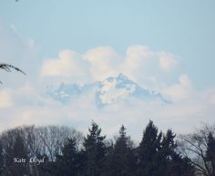 A glimpse of the Olympic Mountains before the clouds moved in. https://www.facebook.com/katelloydbooks