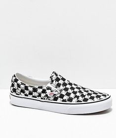 Vans x Peanuts Slip-On Snoopy Checkered Skate Shoes 6513a6e29