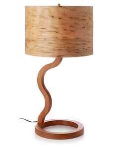 Cherry and Raisin Maple Wooden Lamp handcrafted by George Biersdorf