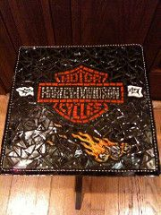Harley Davidson Table | by Doreen Bell Mosaic