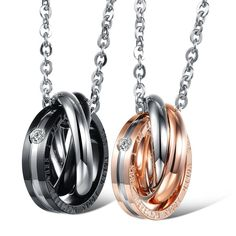 Couples Ring Necklaces