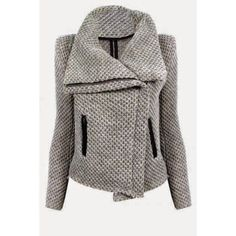 $21.99 Fresh Style Zippered Turn-Down Collar Mesh Knitted Coat For Women