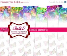 SALE Holiday 20 off Pribtable Bookmarks DIY by StudioDprint, $3.20