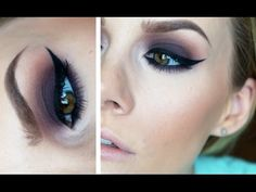 Purple Smoke ♡ Dark Purple Makeup Tutorial - YouTube