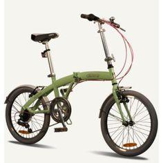 "MIAMI Citizen Bike 20"" 6-speed Folding Bike with Steel Frame (Sour Apple)"