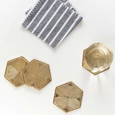 NEW from Zestt! Gilded coasters