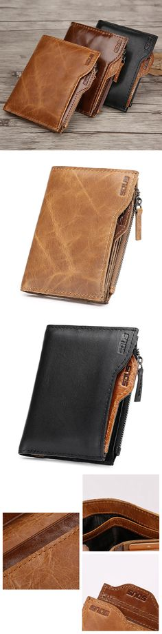 Genuine Leather Business Casual Wallet/Card Holder  #men #style