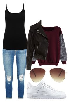 """""""⛅"""" by sabina996 on Polyvore featuring J Brand, M&Co, NIKE, Forever 21, women's clothing, women's fashion, women, female, woman and misses"""