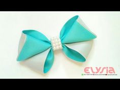Cute Hair Bow - Ribbon Bow | DIY by Elysia Handmade - YouTube