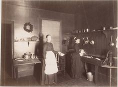 Two Women in a Kitchen, 1880s