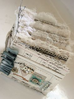 'Greatest of These' assemblage book by Rebecca Sower, via Flickr