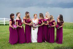 Relaxed Ohio Barn Wedding , Wedding Real Weddings Gallery by WeddingWire Real Weddings Bridesmaid Dress Colors, Wedding Bridesmaid Dresses, Wedding Attire, Raspberry Wedding Color, Magenta Wedding, Wedding Colors, Raspberry Color, Sangria Wedding, Wedding Inspiration