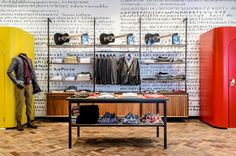 Love the herringbone flooring - Paul Smith store by Paul Smith, Cape Town store design Retail Store Design, Retail Shop, Tailor Shop, Laporte, Retail Interior, Gymnasium, Graphic Patterns, Furniture Inspiration, Paul Smith
