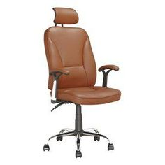 Corliving Workspace Light Brown Contemporary Executive Chair Lof-699-O