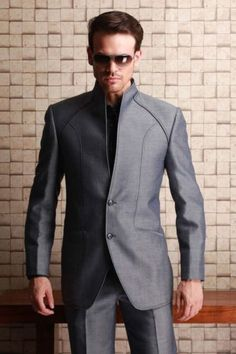 High-Quality-Stand-Collar-Mens-Wedding-Suits-Groom-Tuxedos-Business-Suits-Custom
