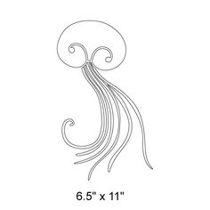 Jellyfish Wall Stencil for Ocean Mural for Kids