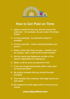 How to Get Paid on Time www.stayoutfront.com
