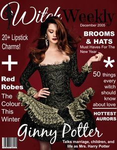 """parvatiipatil: """"Ginny Potter for Witch Weekly [December 2005] """""""