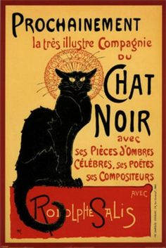 Chat Noir - Cross stitch pattern pdf format