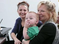 Mrs. Yvonne Gibb, Samantha Gibb and Samantha's cute baby. (Maurice;'s wife, daughter and grandaughter)