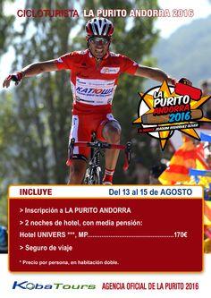 #cicloturismo #lapuritoandorra2016 ¡Para los amantes del cicloturismo no os perdáis LA PURITO ANDORRA 2016!.http://kobatours.com/viajes/eventos-deportivos/la-purito-andorra-3