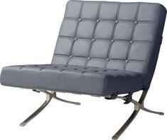 Global Furniture USA Global Furniture Natalie Leather Accent Chair in Dark Grey