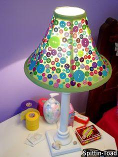 Button Lamp Shade Tute