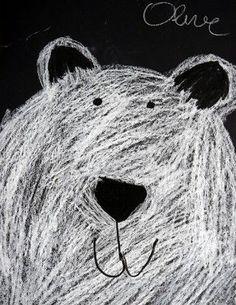 """Résultat de recherche d'images pour """"peinture ours polaire maternelle"""""""
