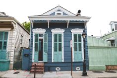 Items similar to New Orleans Photography Architecture Photography New Orleans Art NOLa Art French Quarter Landscape Photography House Print Blue House Art on Etsy New Orleans Art, New Orleans Homes, House Paint Exterior, Exterior House Colors, New Orleans Architecture, Creole Cottage, Shotgun House, Hawaii Homes, Paint Colors For Home