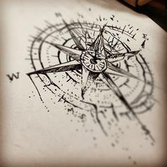 jenxtattoos.tumblr.com #sketch for tomorrow's #broken #compass :) #tattoo…