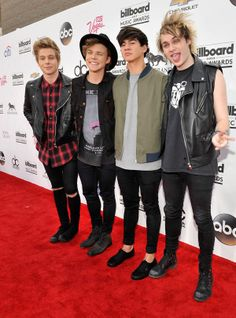 2014 Billboard Music Awards: 5 Seconds of Summer's Luke Hemmings, Ashton Irwin, Calum Hood and Michael Clifford