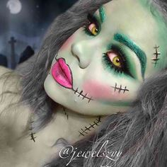 I absolutely love @jewelszyy's recreation of my Frankenstein look! That's one cute lil Frankenstein chick! Tag your pics with #chrisspy to show me your work! ➡️➡️Youtube.com/ChrisspyMakeup