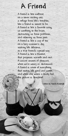 A Friend - An original poem by Pamela Joyce Randolph (Arizona Poet Lady)