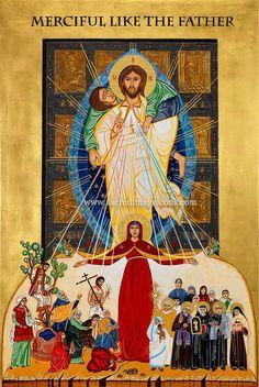 Sacred Image Icons, Commissioned Icons, Sacred Art and Prints Religious Icons, Religious Art, Divine Mercy Sunday, Year Of Mercy, The Lost Sheep, Religion Catolica, The Good Shepherd, Image Icon, Catholic Art