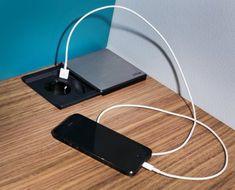 integrierte Steckdose mit USB-Anschluss | P.MAX Massmöbel - Tischlerqualität aus Österreich Electrical Outlets, Made To Measure Furniture, Living Area