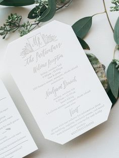 Black Tie Garden Party Calligraphy Wedding Invitations by Cast Calligraphy and Birdwalk Press / Oh So Beautiful Paper