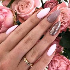 Fantastic nails: 18 best ideas for a win-win mani that you will love . - Minimal - Fantastic nails: 18 best ideas for a win-win mani that you will love … – - Mauve Nails, Pink Nails, My Nails, Fantastic Nails, Trendy Nail Art, Super Nails, Fancy Nails, Nail Art Hacks, Almond Nails