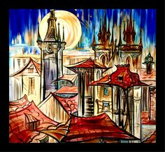 #art #artist #artistsoninstagram #kirillpostovit #katiefeygieart #katiefeygieartgallery #prague #buyart #buyartonline #artjournal #exclusive #modern #contemporaryart #contemporary #unique #paintingofprague #artprague #czechrepublic #artluxedesigns