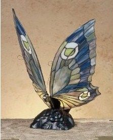 Tiffany Stained Glass Art Butterfly Lights make wonderful accent lighting for the Home and Garden. Beautiful lamps