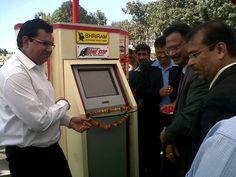 Sameer Malhotra (CEO, SAMIL) introduces one stop kiosk in Faizabad Inauguration.