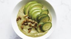 The natural creaminess of avocado shines in this smoothie, where the sweet sharpness of apple and ginger round it out.