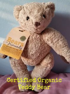 Bears for Humanity - Certified Organic Teddy Bear that gives back. For a limited time, enter to win one! Organic premium teddy bear and baby bear made of certified organic cotton and hemp, hypoallergenic and antibacterial #bearsforhumanity