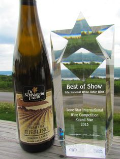 Dr. Frank 2012 Semi Dry Riesling won Best of Show at the 2013 Lone Star International Wine Competition