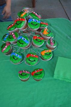Teenage Mutant Ninja Turtles Birthday cupcakes