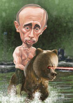 Caricatura Vladimir Putin