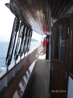 Corredor de la cubierta superior