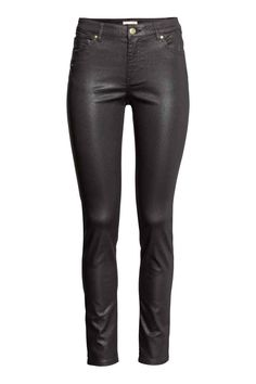 Superstretch trousers: 5-pocket trousers in washed superstretch twill with a regular waist and slim legs.
